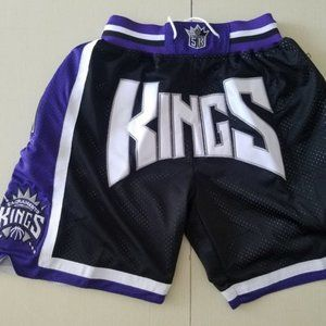 NEW Just Don Sacramento Kings basketball Shorts2